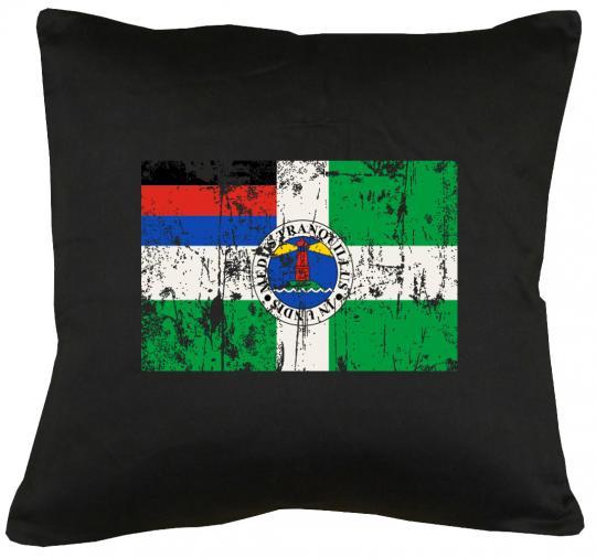 Flagge Borkum Kissen mit Füllung 40x40cm