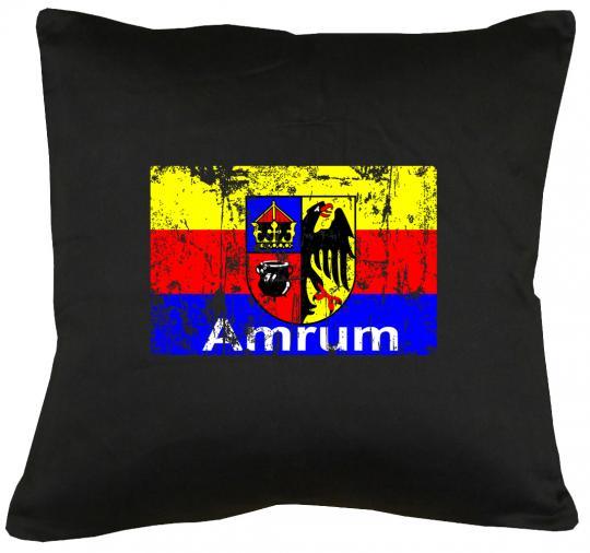 Flagge Amrum Kissen mit Füllung 40x40cm